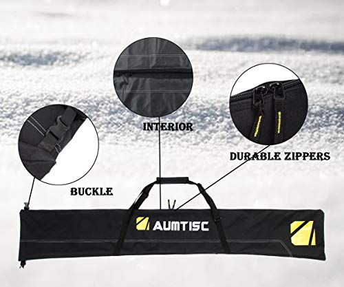 AUMTISC Ski Bag and Boot Bag Combo /& Padded for 1 Pair of Ski Boots Adjustable